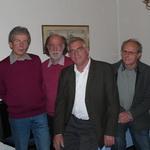 Vorstand der SPD Andechs: Magnus Berchtold, Karl Strauß, Peter Eberl (Vorsitzender) und Peter Weyde